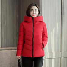 купить Brieuces 2019 Winter Jacket Women Cotton Short Jacket New Padded Slim Hooded Warm Parkas Coat Female Autumn Outerwear дешево