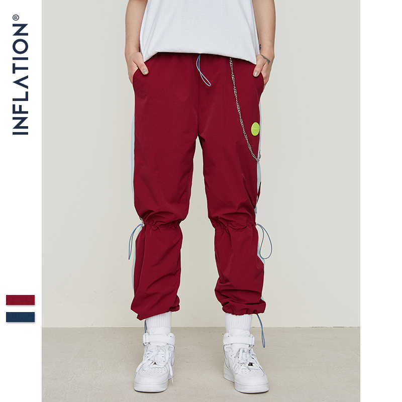 Pantalones Anchos A Rayas Para Hombre Ropa De Calle Hinchable Pantalones De Chandal Moda Coreana Para Correr Informales 2020 Pantalones Informales Aliexpress