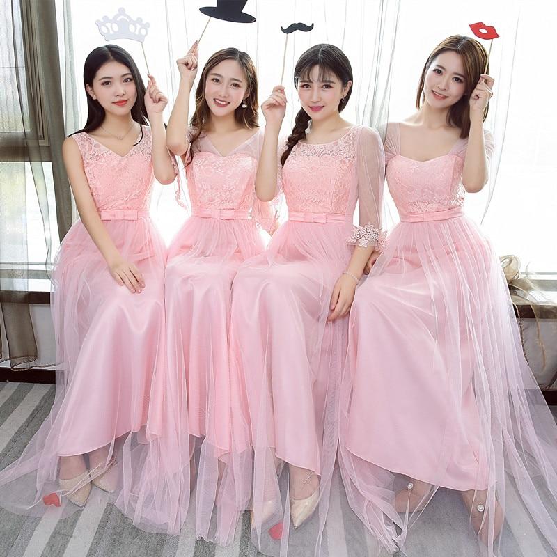 Sweet Memory Light Grey Pink Short Sleeve Bridesmaid Dresses Light Gray Bridesmaid  Dress SW1845 cd748a9a8ce7