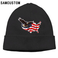 SAMCUSTOMธงอเมริกันและEagle 3Dพิมพ์N Eutralผู้ชายผู้หญิงเสื้อหมวกผ้าขนสัตว์ชนิดหนึ่งที่อบอุ่นสบายๆSkullies ...