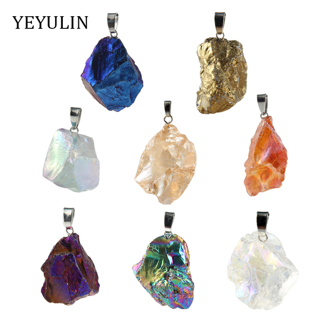 High Grade Geometry Natural Stone Charms Pendant For Making Jewelry DIY Accessories random size