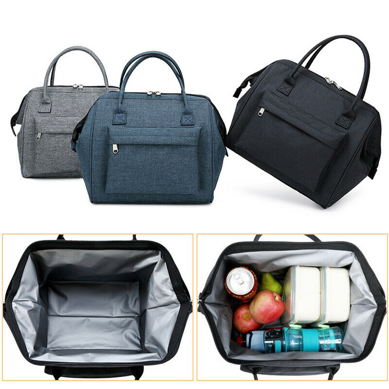 Portable Thermal Insulated Lunch Bag Travel Picnic Lunch Box Tote For Women Men