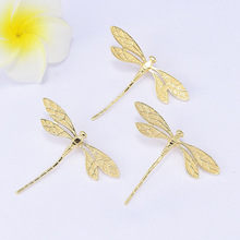 Pendants Findings-Accessories Charms Jewelry Making Dragonfly 24K Gold-Color High-Quality