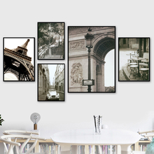 Paris Tower Street Landscape Wall Art Canvas Painting Nordic Posters And Prints Black White Pictures For Living Room Decor