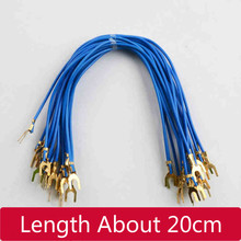U Plug Electrical Wire 20cm Form The Harpoon Line 4.2 Fork Type Physical Electrical Instrument Circuit Experiment Class Line