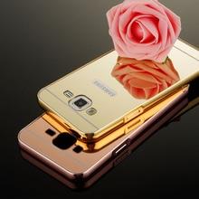 HC01 Luxury Gold Mirror Aluminum Case for Samsung Galaxy J1 J3 J5 J7 A3 A5 A7 2016 A510f A310f Мини Металлический Каркас Назад КОМПЬЮТЕР крышка