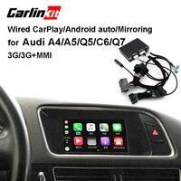 Carlinkit проводная Apple CarPlay декодер для Audi A4 A5 Q5 C6 Q7 3g/3g + MMI muItimedia интерфейс CarPlay и Android Авто Модернизации комплект