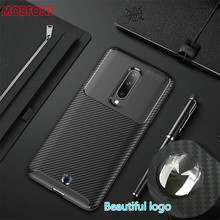 Carbon Fiber Matte for Oneplus 7 Pro Case Shockproof Soft TPU Silicone Full Protective Luxury For Oneplus7 Pro Cover Funda Coque