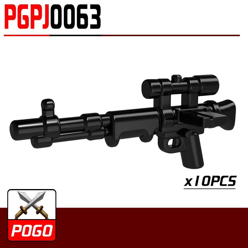 PG0063 10 unids pistola rifle de Francotirador SWAT para MINIFIG ...