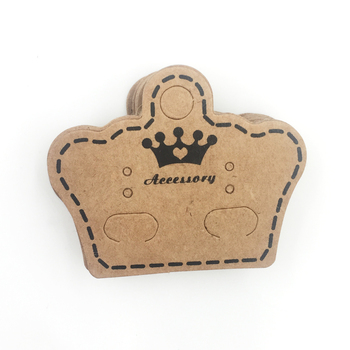 5000pcs Crown Kraft Paper Cards Ear Hooks Earring Display Cards Cheap Jewelry Packaging Display Cards Supplier  H2004