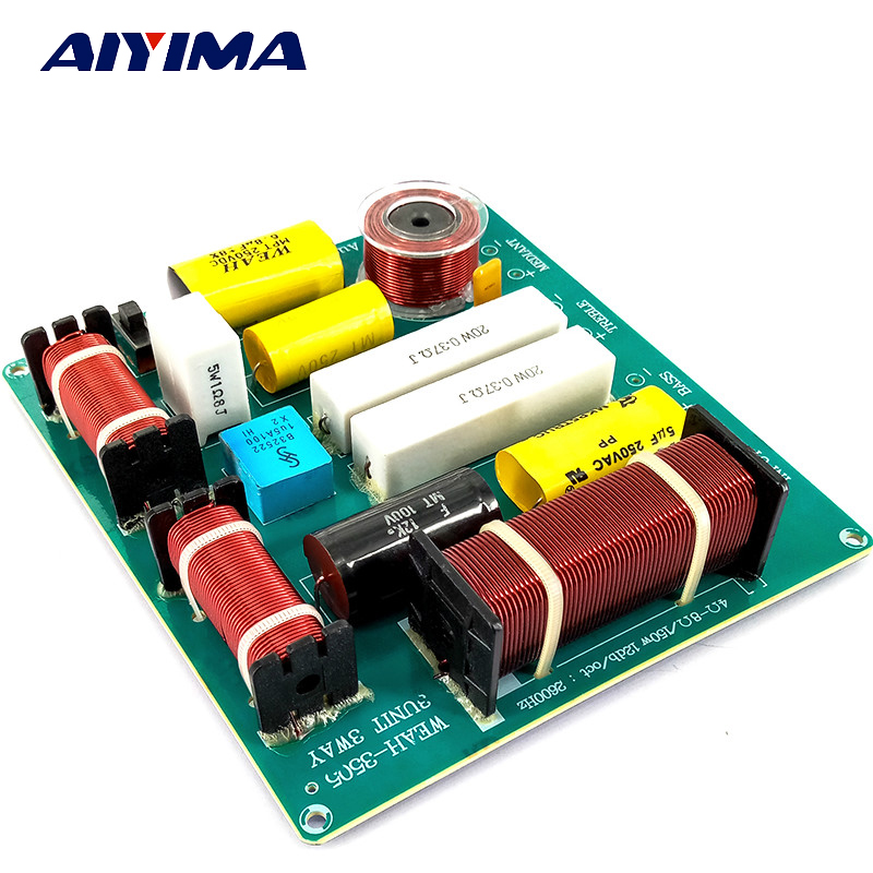 Aiyima 2PCS KTV Professional Speaker 3 Way Audio Frequency Divider loudspeaker 3 Unit Crossover Filters DIY