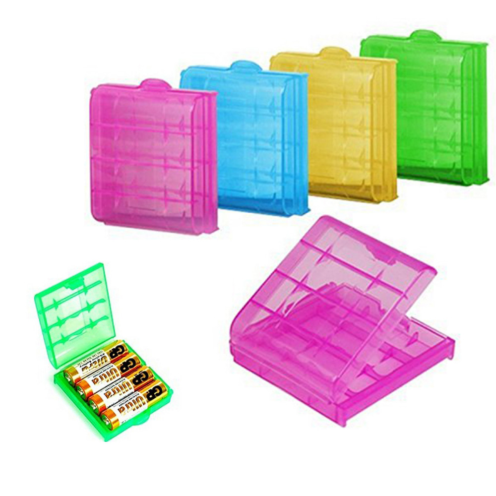 14500/10440  Hard Plastic Transparent Battery Storage Boxes Rechargeab
