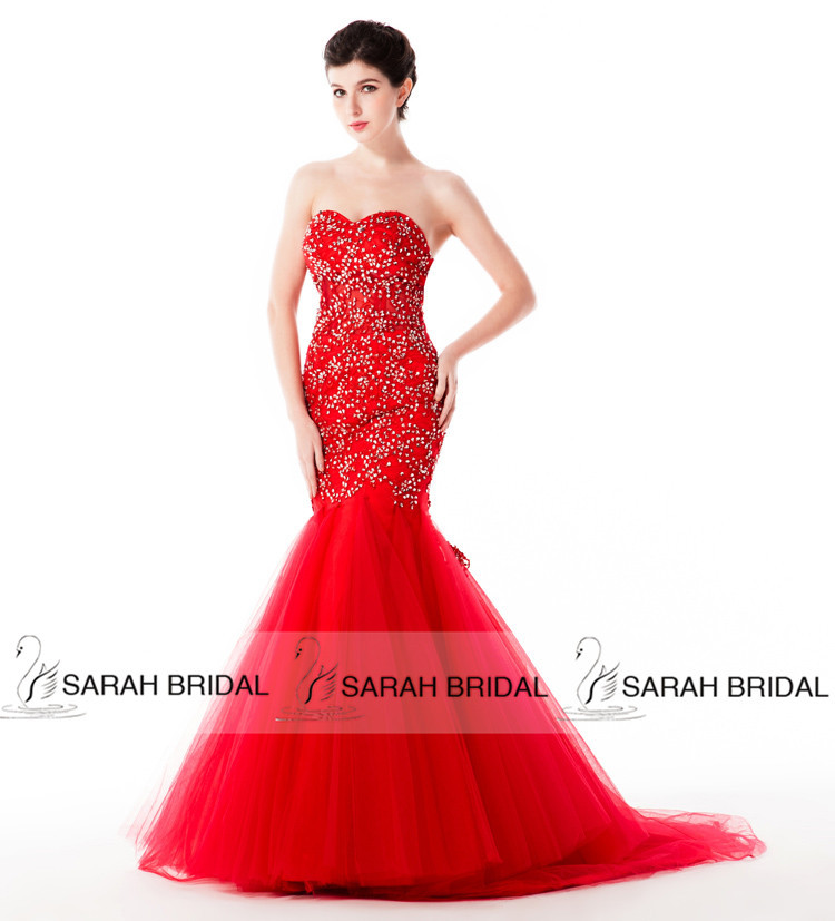 Online Buy Wholesale red mermaid wedding dress from China red ...
