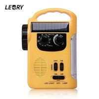 LEORY Protable Solar Power Radio Hand Crank 13 LED Flashlight Emergency Survival Phone Charger Super LED
