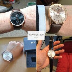 Image 5 - MEGIR מקורי שעון גברים למעלה מותג יוקרה גברים שעון עור שעון גברים שעונים Relogio Masculino Horloges Mannen Erkek Saat