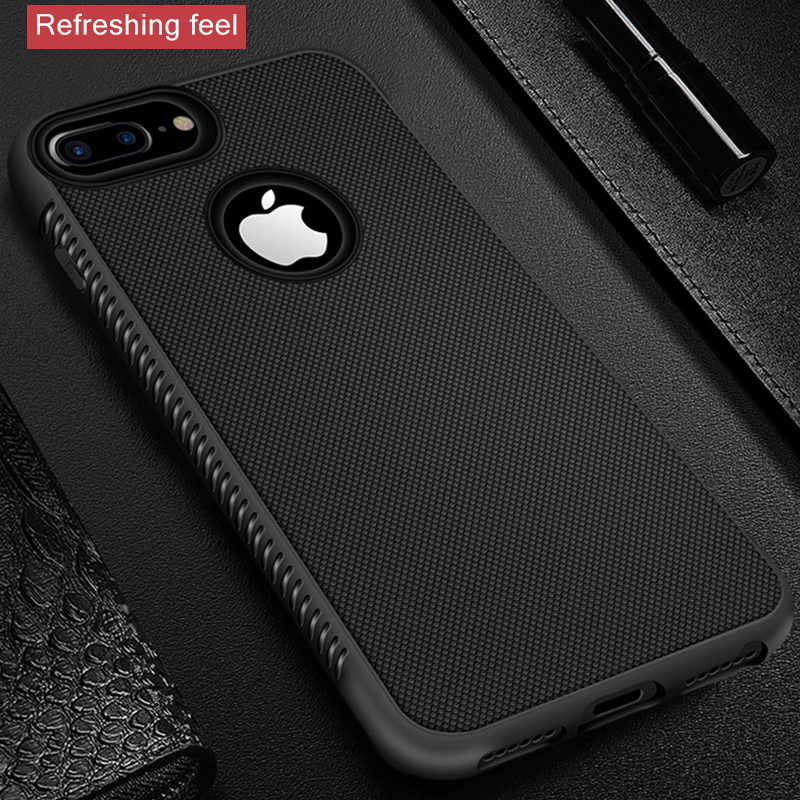 GerTong Rugged Case For iPhone X XR XS Max Cover Silicon Bumper Matte Cases For iPhone 6S 6 7 8 Plus 7Plus Shockproof Back Cover