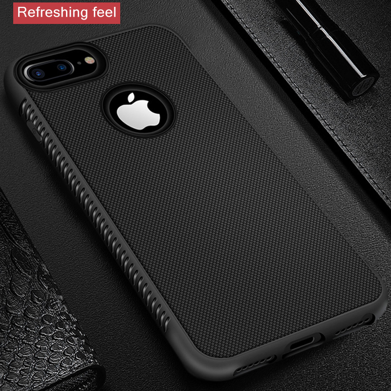 Rugged <font><b>Case</b></font> For <font><b>iPhone</b></font> X XR XS Max Cover Silicon <font><b>Bumper</b></font> Matte <font><b>Cases</b></font> For <font><b>iPhone</b></font> 6S <font><b>6</b></font> 7 8 Plus 11 Pro 7Plus Shockproof Back Cover image