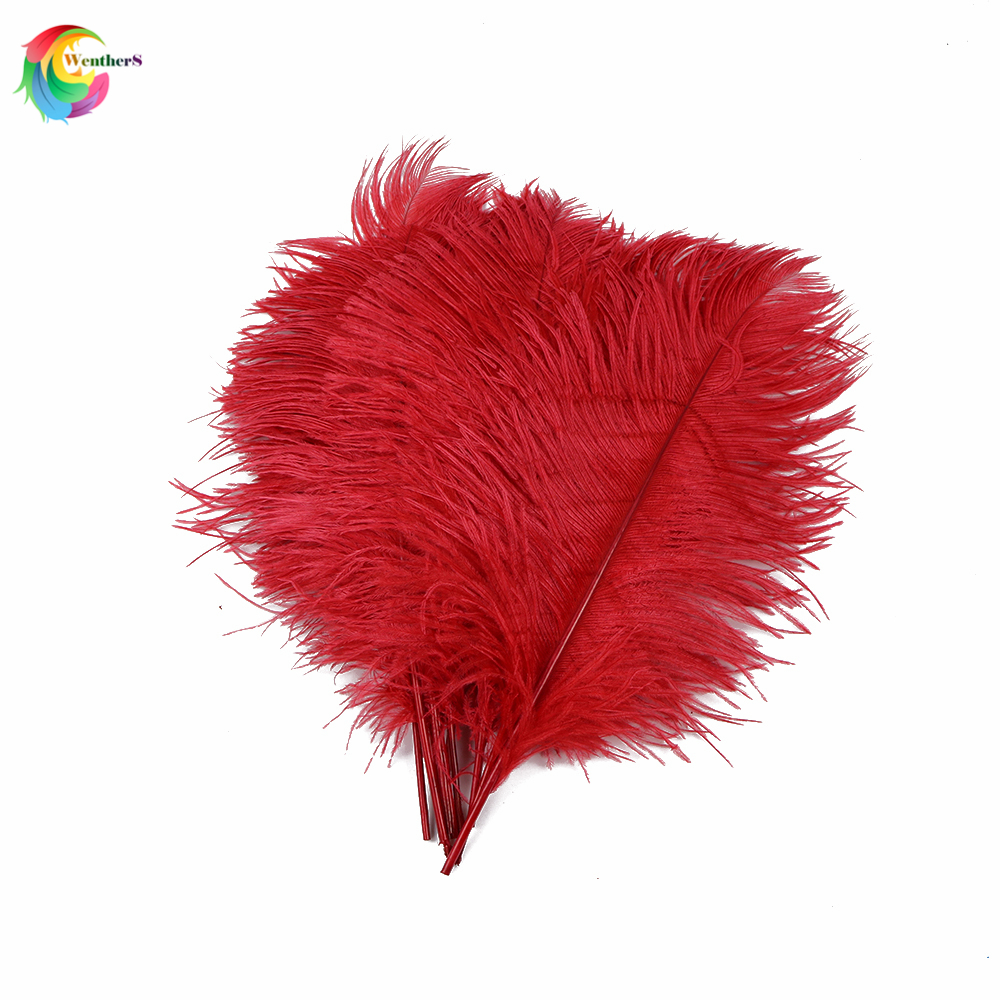 50pcs/lot Real Natural Ostrich Feathers Tail 35-40 Cm/14-16 Inch For Home Wedding Party Decoration Crafts Plume