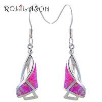 Free Shipping Wholesale Retail Blue Fire Opal 925 Silver Dangle Earrings Fashionl Jewelry Opal Jewelry OE065