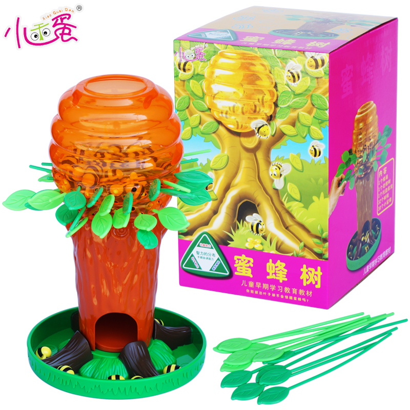 candice guo! Educational plastic toy bee tree balance parent-child interaction desktop game kids birthday Christmas gift 1pc plastic toy funny game pinart 3d clone shape pin art shoumo variety colorful needle child get face palm model 1pc free shipping