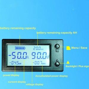 Image 2 - 50A 100A 200A 400A STN LCD Hall Coulomb mètre compteur tension amplificateur de courant capacité indicateur affichage eBike voiture Isolation moniteur