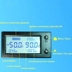 Image 2 - 50A 100A 200A 400A Stn Lcd Sala Coulomb Contatore Misuratore di Tensione di Corrente Amp Indicatore di Capacità di Visualizzazione Ebike Auto Isolamento Monitor