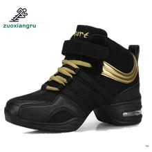 цена на Women Dancing Shoes Jazz Sneaker New Dance Sneakers For Female Modern Street Dance Shoes Mid-calf Ladies Dance Shoes Comfortable