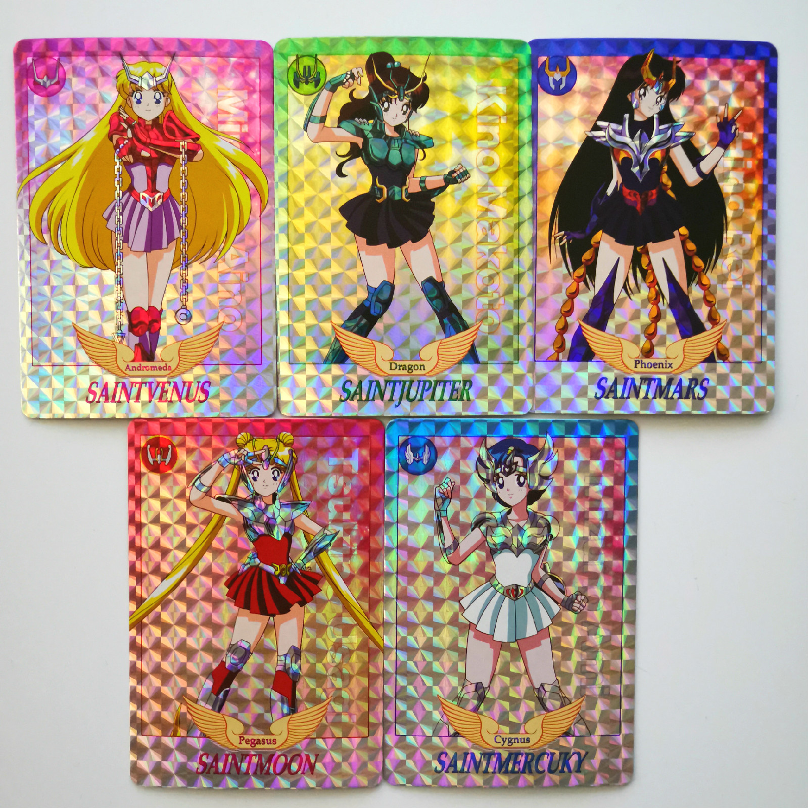 5pcs/set Sailor Moon Cosplay Saint Seiya Toys Hobbies Hobby Collectibles Game Collection Anime Cards