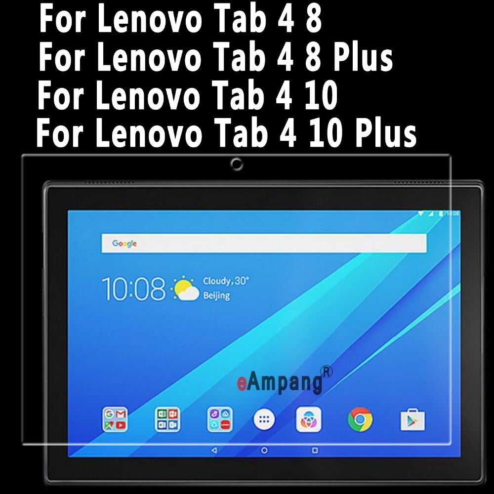 Tempered Glass For Lenovo Tab 4 8 10 Plus Screen Protector For Lenovo Tab 4 10 8 Plus 8.0 inch 10.1 inch Clear Tempered Glass screen protector for moto x4 high sensitivity clear premium tempered glass