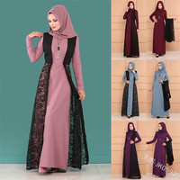 2019 new arrival elegent fashion style summer and autumn muslim women plus size long abaya S 5XL