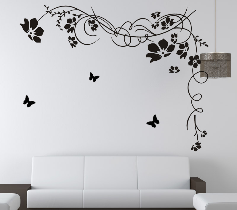 Wholesale Popular Art Flower Wall Sticker Vine Butterfly Decor Wall Sticker  Decal 120x160cm Wall Mural Home Kids Room Wallpaper In Wall Stickers From  Home ... Part 41