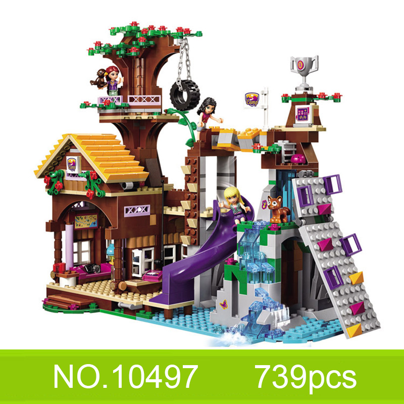 Friends Bricks Adventure Camp Tree House model with figures toys for children Building Bricks Blocks image