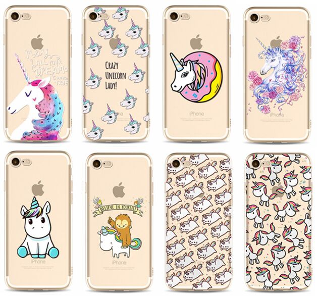 For iPhone XS Max XR X 8 7 6 6S Plus Cover Lovely Horse Unicorn Caticorn Clear  Soft TPU Case 3e307d5ae255