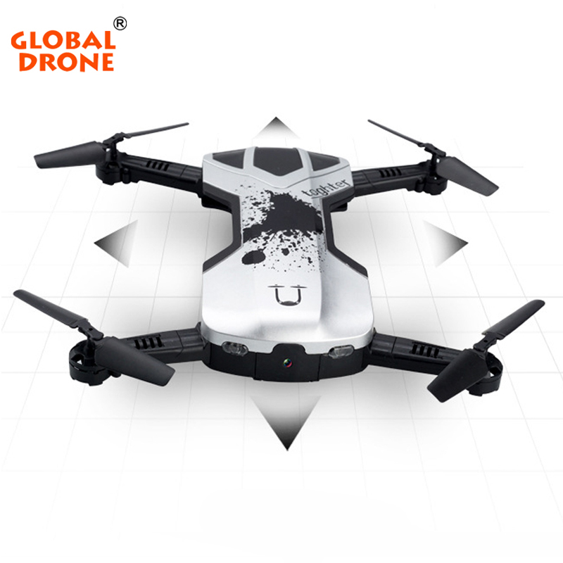 Global Drone Selfie Foldable Drone RC Quadcopter Drone Altitude Hold Phone Control RC Helicopter with 0.3MP WIFI FPV HD Camera jjrc h39wh h39 foldable rc quadcopter with 720p wifi hd camera altitude hold headless mode 3d flip app control rc drone