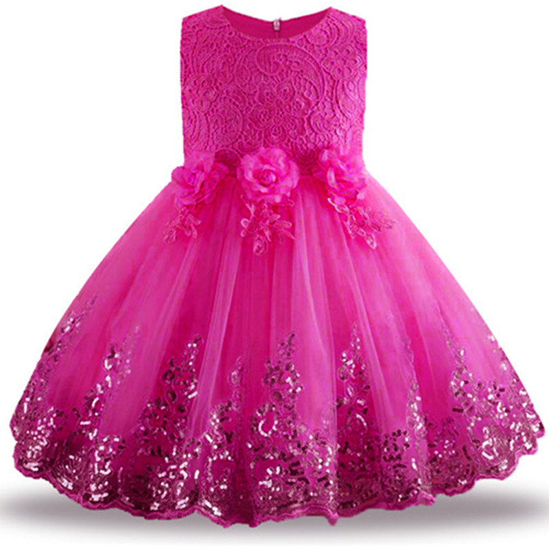 Summer   Dress   for Children   Flower     Girls     Dress   Party Wedding   Dress   Elegent Princess Vestidos
