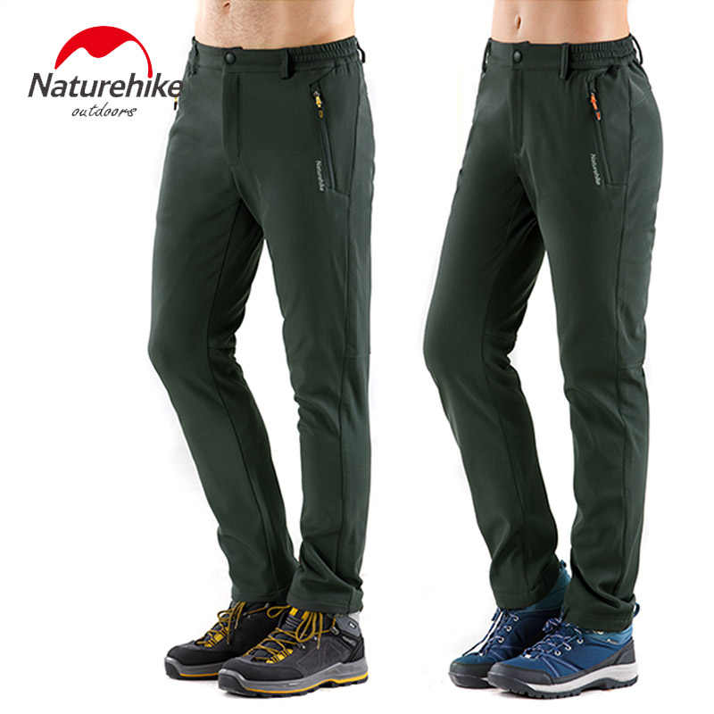 Naturehike Latest Winter Outdoor fleece Trousers Men Women Warm Pants Walking Hiking thermal soft shell Trousers NH18R035-K