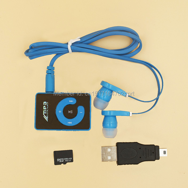 2015 mini clip portable mp3 music media player with 4gb micro sd tf usb data line
