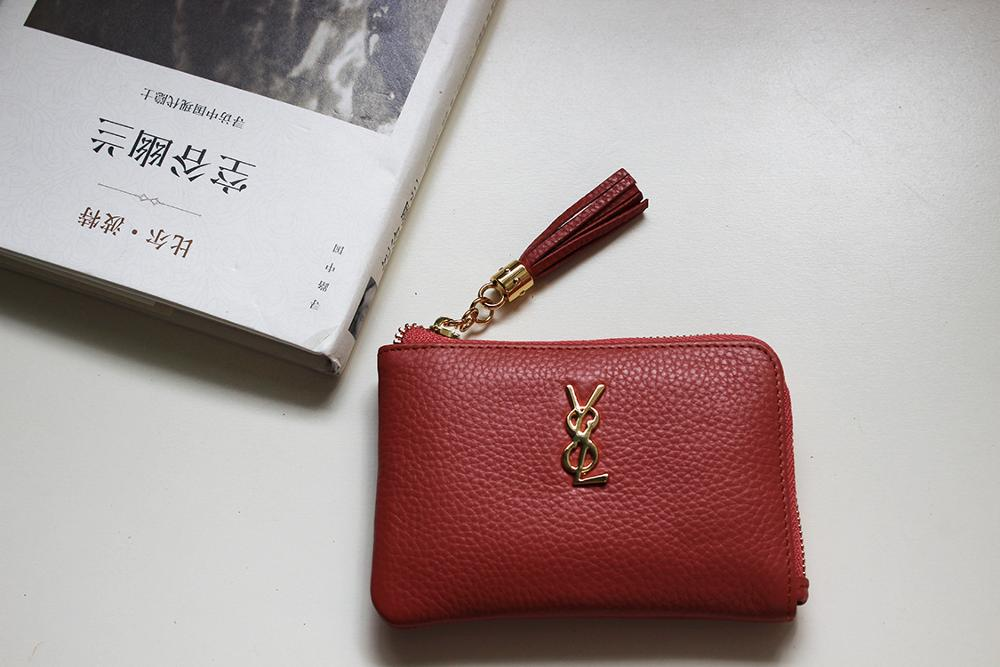 [Hely Coptar]5colors Genuine Leather Women Wallet Zipper Coin Purse Little Tassel Simple Style advanced rectal touch examination simulator rectal tumor examination model