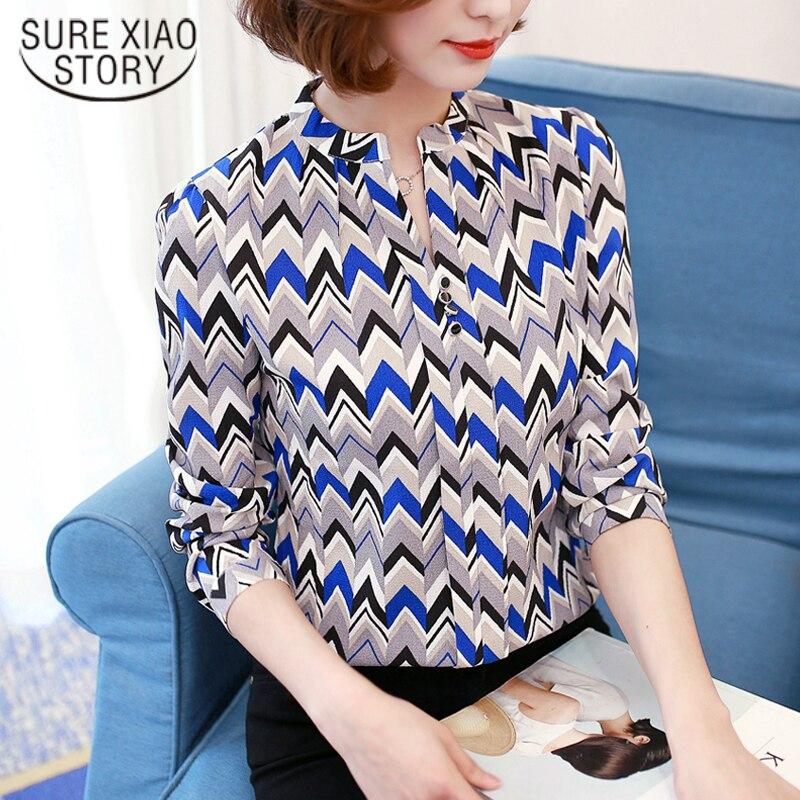 Новая модная летняя женская белая однотонная элегантная повседневная женская шифоновая рубашка с длинным рукавом Блузка кружевная женская одежда Топ 51C
