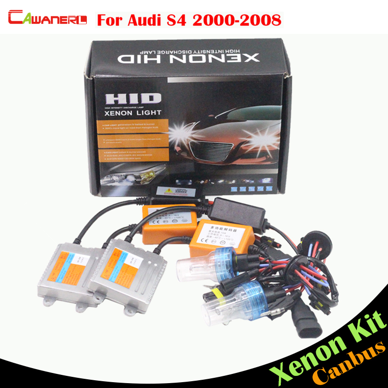 Cawanerl H7 55W Car Light No Error Ballast Bulb HID Xenon Kit AC 3000K-8000K Vehicle Headlight Low Beam For Audi S4 2000-2008