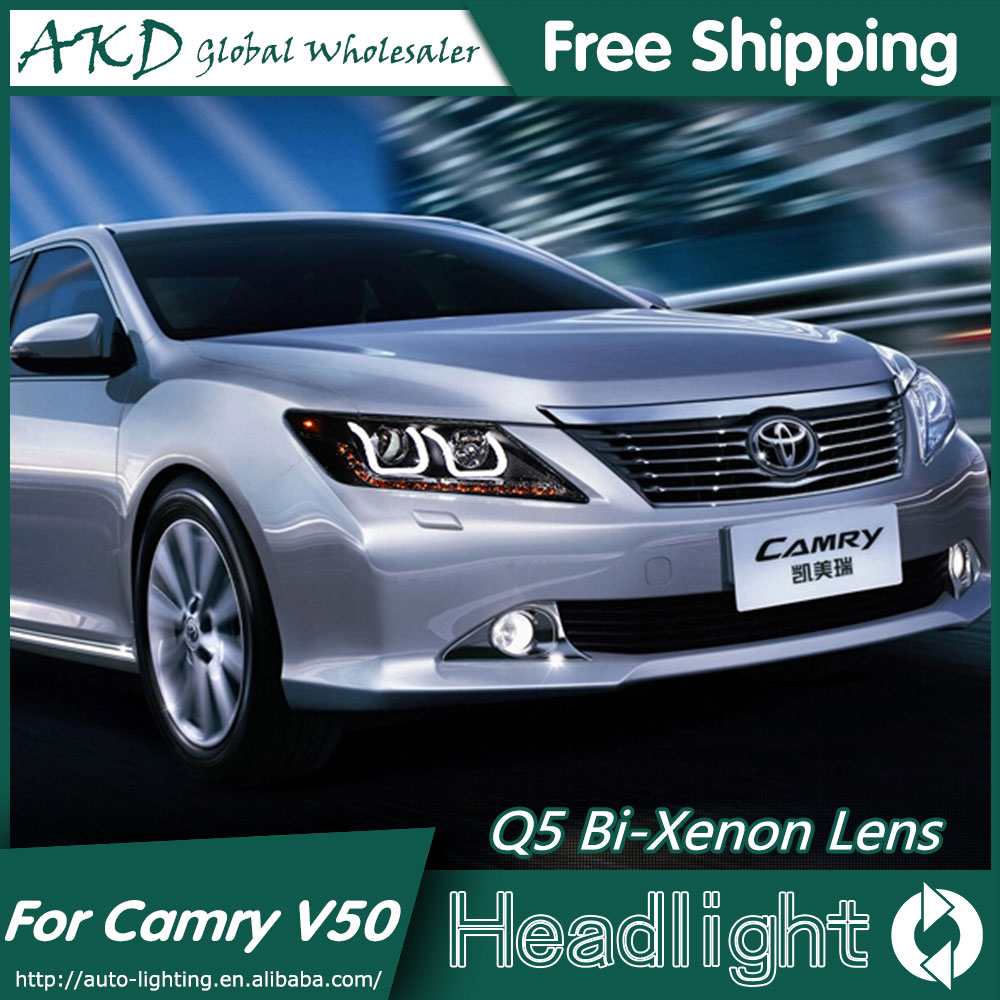 AKD Car Styling for Toyota Camry V50 Headlights 2012-2014 Camry LED Headlight DRL Bi Xenon Lens High Low Beam Parking Fog Lamp akd car styling for nissan teana led headlights 2008 2012 altima led headlight led drl bi xenon lens high low beam parking