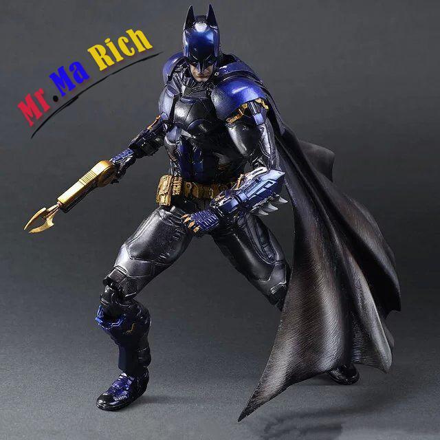 Movie Figure 28 Cm Playarts Kai Batman Arkham Knight Batman Blue Limited Ver. Pvc Action Figure Collectible Model Toy limited 18cm high classic toy forrest gump batman arkham asylum action figure toys