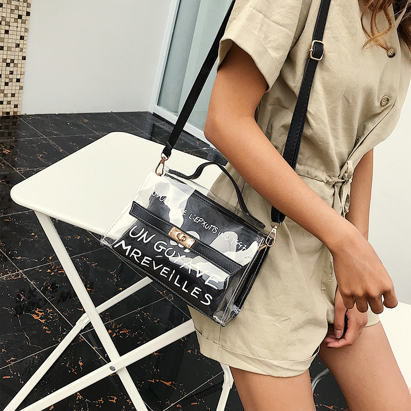 820ee968c3b7 Aliexpress.com   Buy Fashion Wide Shoulder Strap Ladies Shoulder Messenger  Bag Summer Jelly Bag Mini Transparent Funny Bag Lady Clutch Free Shipping  from ...