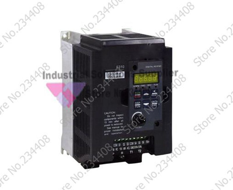 Frequency Converter E310 Series E310-201-H Three 1 Phase/3 Phase 200V 4.5A 0.75KW 1HP New three phase general frequency converter 2 2kw 380v three phase motor warranty 18 delta
