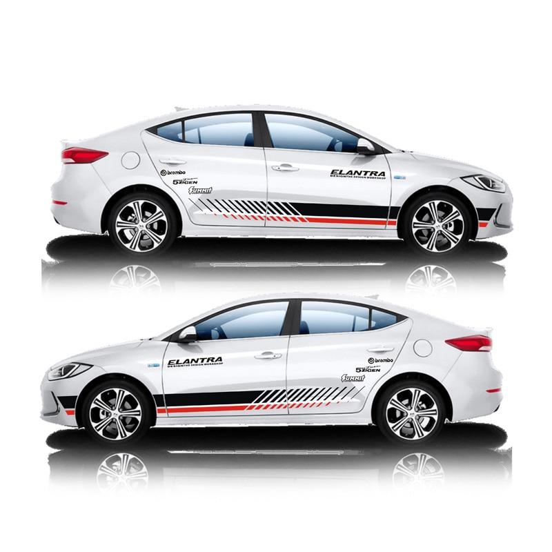 TAIYAO car styling sport car sticker For 2016 2018 Hyundai ELANTRA Mark Levinson car accessories and