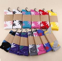Hohe Qualität Harajuku Stil Weed Socken Für Frauen männer Hip Hop Baumwolle Skateboard Socke Mann WZ001