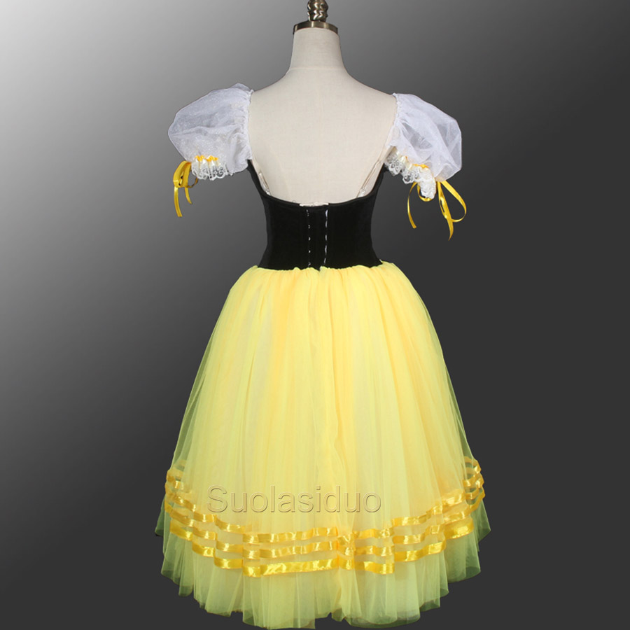 Giselle Degas Ballet Tutu Dresses Peasant Yellow Giselle Tutu Dress Girls Romantic Tutu Dress Ballet Dresses For Adults SD0003D in Ballet from Novelty Special Use