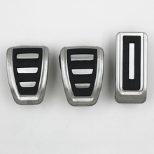 stainless steel Fuel Brake Footrest Pedal AT/MT for vw Transporter Multivan T5 T6 Caravelle T6