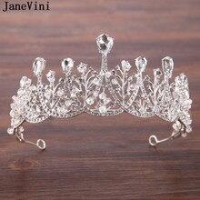 50c2b24035cc JaneVini lujo nupcial Rhinestone venda de la Corona cristalina del pelo  accesorios joyería de la boda Tiaras espumoso princesa H..