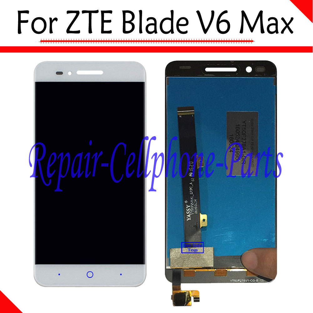 White 100% New Full LCD DIsplay + Touch Screen Digitizer Assembly Replacement  For ZTE Blade V6 Max - Version A +TrackingWhite 100% New Full LCD DIsplay + Touch Screen Digitizer Assembly Replacement  For ZTE Blade V6 Max - Version A +Tracking